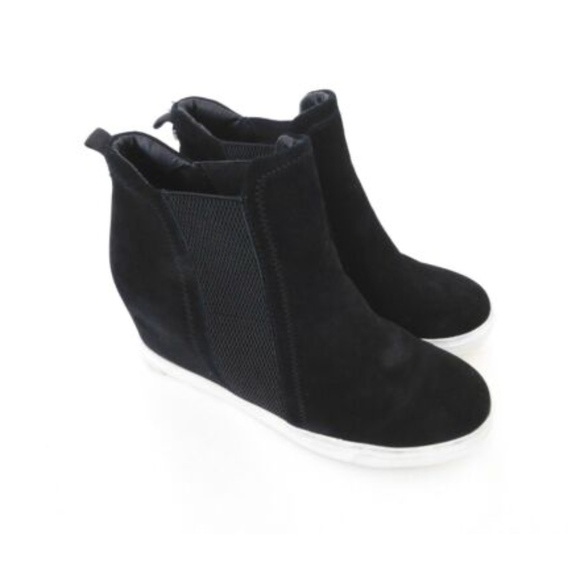 a410cc33916 Steve Madden Suede Wedge Fashion Sneakers Black